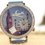 นาฬิกาข้อมือผู้หญิง diy นาฬิกาข้อมือ 3 มิติ แต่ง ไอคอน ดิสเพลย์ เป็นรูป เครื่องบิน นาฬิกาแฟชั่น สำหรับ ผู้รักการเดินทาง 11328