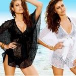 เสื้อคลุมชุดว่ายน้ำ เดรสใส่คลุม ชุดว่ายน้ำ เดินชายหาด ผ้าซีทรู เป็นจุด มีสีขาว และ สีดำ สำหรับ ใส่คลุม ชุดว่ายน้ำ 283638