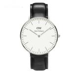 นาฬิกา สายหนัง แบบเรียบ ๆ สไตล์ คนทำงาน นาฬิกาข้อมือผู้หญิง ผู้ชาย ใส่ได้ หน้าปัด สีขาว เรียบหรู ใส่ทำงาน เก๋ ๆ สายสีน้ำตาล สีดำ 535381