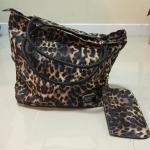 กระเป๋าหนัง ลายเสือ เก๋ๆ แถมกระเป๋าใบเล็ก ถ่ายจากสินค้าจริง