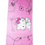 ผ้าขนหนู Kitty นั่ง สีชมพู 5 ฟุต