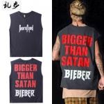 Preorder เสื้อยืดBigger than satan bieber