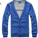 เสื้อกันหนาวผู้ชาย เสื้อใส่คลุมในออฟฟิต เสื้อคลุมแขนยาว ไหมพรม สำหรับผู้ชาย สวยเรียบ มีสไตล์ ใส่ได้ทุกวัน สีฟ้า no 603068_1