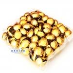 หมุดรองก้นกระเป๋า กลมใหญ่ สีทอง (แพ็คละ 100 ชิ้น)