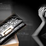 กระเป๋าสตางค์ผู้หญิง ใบยาว หนังแก้ว เงาสวย หรู มีสไตล์ กระเป๋าสตางค์แบบถือ ใช้ออกงาน หนังเงา ลายตาราง สวยหรู สีดำ สีชมพู สีแดง เข้ากับเดรส 134755