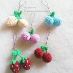 พวงกุญแจผลไม้ fruit keyschain crochet