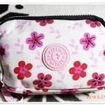 กระเป๋าใส่ดินสอ ใส่เงิน ใส่เครื่องสำอางค์ Kipling ลายดอกไม้ K201