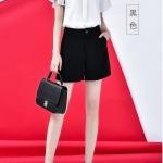 **สินค้าหมด Shorts490-Size-L-สีดำ / กางเกงขาสั้นซิปหน้ากระเป๋าข้าง ผ้าคอตตอนผสมลินินเนื้อดีมีน้ำหนักทิ้งตัวไม่ยับง่าย