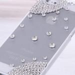 เคส iPhone 4 4s ประดับ คริสตัล สีขาว สวยเก๋ เคสคริสตัล ลดราคา no 6739