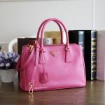e5527482a0a8 Prada Fuxia Pink Saffiano Lux Tote 30 / 2 Zippers BN1801