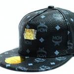 หมวก cap หมวกมีปีก หมวกเบสบอล หมวกหนัง MCM สีดำ คลาสสิค หมวกใส่เที่ยว น่ารัก สุด ๆ 687223