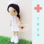 """ตุ๊กตาถัก พยาบาล สภากาชาดไทย 12"""""""
