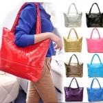 กระเป๋าถือ ผู้หญิง แฟชั่น รับหน้าหนาว หนัง Pu ดูนุ่มนิ่ม ทรงถุง ดีไซน์เก๋ สีพื้น มีหลายสี ขนาดใส่นิตยสารได้ กันน้ำได้ no 119618