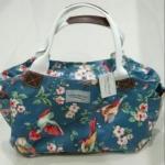 กระเป๋าถือ กระเป๋าหนัง pu กันน้ำ แบบสวย ลายดอกไม้ จากประเทศอังกฤษ Cora Taylor london แท้ 30773