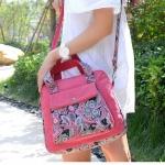กระเป๋าสะพายข้าง กระเป๋าถือ ผ้าแคนวาส กระเป๋าผู้หญิง เพ้นท์ ลายไทย สีหวาน กระเป๋าวัยรุ่น สะพายเที่ยว น่ารักสุด ๆ 940850
