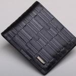 กระเป๋าสตางค์ผู้ชาย ใบสั้น สีดำ หนังวัวแท้ ลายตาราง กำแพง เรียงกัน กระเป๋าสตางค์นักธุรกิจ ดีไซน์ สวย เรียบหรู มีสไตล์ คลาสสิค ของขวัญให้แฟน 273318