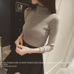 Gray Sweater เสื้อไหมพรมสีเทา ทอลาย ยืดได้เยอะ พร้อมส่ง