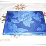 ผ้าห่มแพร ผ้าปูที่นอนแพร 6 ฟุต สีน้ำเงินเข้ม