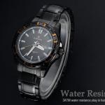 นาฬิกาข้อมือ ผู้ชาย นาฬิกา สาย สแตนเลส สีดำ ผสมผสาน กับ ความเป็น Sport ได้อย่างลงตัว มีระบบ วันที่ กันน้ำได้ หน้าปัดแต่งหลากสี แบบเท่มากค่ะ 545492