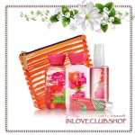 Bath & Body Works / Travel Size Scents & Stripes Gift Set (Sweet Pea)
