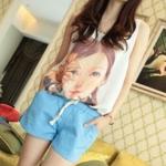เสื้อแฟชั่นผู้หญิง แขนกุด ผ้าชีฟอง ลายเด็กผู้หญิง no 53255
