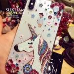 เคสไอโฟนXสวารอฟสกี้คริสตัล โพนี่ Unicorn Pony Case iPhoneX Swarovski