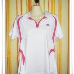 เสื้อกีฬา สีขาวแถบชมพู 3xl  062