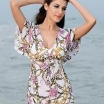 เสื้อคลุมชุดว่ายน้ำ ใส่เล่นเดินชายหาด ชายทะเล สไตล์ สาวฝรั่ง เดรส สวย ๆ สวมทับ ชุดบิกินี่ เนื้อผ้านุ่ม สัมผัสสบาย แบบไฮโซ 347161