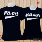เสื้อยืดคู่รัก Papa Mama
