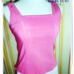 #1119 เสื้อแขนกุด เนื้อผ้า Spandex สีชมพู