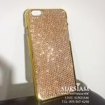 เคสไอโฟน 6 พลัส สีทองสั่งทำด้วยคริสตัลหรูหราเป็นของขวัญให้แฟน case iphone 6s plus crystal