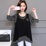 ชุดเดรสไซส์ใหญ่ราคาถูก Large size women t-shirt shirt female