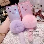 case iPhone 6s Plus/เคสไอโฟน6น่ารักซิลิโคลนใสสีชมพูโชว์เครื่องไอโฟนสีชมพูหวานงานเกาหลีแท้ ID: A317
