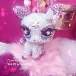 ขายส่งพวงกุญแจคริสตัลหรูพรีเมี่ยมม้าโพนี่ กวางนำโชค เหมาะเป็นของขวัญวันเกิด ครบรอบวันแต่งงาน มอบเป็นของขวัญพิเศษ หรือใช้เป็นพวงกุญแจที่ห้อยกระเป๋าคริสตัลแท้ Lucky deer Handmade Keyring made by gold crystal ID: A263
