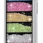 เคส iPhone 5c ประดับเม็ดคริสตัล ด้านใน คล้ายเม็ดทราย เคส แบบ เก๋ งาน Hand made ไม่ซ้ำใคร ทำ 6 ชั้น คริสตัล สีดำ สีขาว no 98246_6