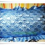 ปลอกหมอน ผ้าซาติน สีฟ้า S001