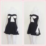 **สินค้าหมด dress2266 เดรสแฟชั่นเกาะอกเสริมฟองน้ำ ผ้าสกินนี่(ยืดได้เยอะ) สีดำ