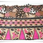 ผ้าถุงสำเร็จรูป ลายไทย สีชมพูหวาน P008