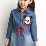 เดรส เด็กผู้หญิง น่ารัก เดรสเด็ก เดรสยีนส์ ใส่เที่ยว ลาย Micky mouse ชุดกระโปรงเด็กผู้หญิง ดีไซน์ สไตล์ เด็กญี่ปุ่น น่ารักมากค่ะ 433398