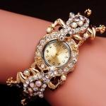 นาฬิกาข้อมือ นาฬิกาผู้หญิง แบบ กำไลข้อมือ ทอง 18 K ทำลาย กบฝังเพชร CZ สุดหรู สินค้า ราคาผู้ผลิต นาฬิกาข้อมือทอง ของขวัญสุดหรู สำหรับ คนรักกบ 167546