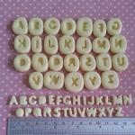 แม่พิม A-Z แม่พิมซิลิโคน 26ชิ้น ขนาด0.7cm. * 1cm.