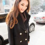 เสื้อโค้ทกันหนาว สีดำ ทรงสวย รุ่นนี้ดูหรูตรงกระดุมเลยจ้า ผ้าวูลผสมสำลี พร้อมบุซับในกันลม พร้อมส่งเลยจ้าา