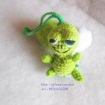 ที่ห้อยกระเป๋า พวงกุญแจตุ๊กตา เต่าแซมมี่ถักโครเชต์ sammy dolls pom pom amigurumi crochet keychain