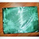 ผ้าแพร สีเขียว