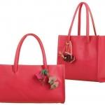 กระเป๋าถือผู้หญิง กระเป๋าหนัง สีแดง แตงโม ห้อยดอกไม้ ดีไซน์ สไตล์ วินเทจ กระเป๋าใส่ของไปเรียน ไปเที่ยว ปิคนิก แสนสวย ราคาถูกมาก 882629_6