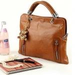 กระเป๋าใส่เอกสารผู้หญิง กระเป๋าถือ ใส่เอกสาร ราคาประหยัด หนัง Pu สีน้ำตาล มีสายสะพายถอดได้ กระเป๋าสะพายข้างผู้หญิง ราคาถูก 363472
