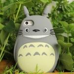 เคส iphone 6 6 plus เคสซิลิโคน อย่างดี เคส 3D ลายการ์ตูน Totoro จากญี่ปุ่น น่ารัก น่าสะสม สีเทา เคสหายาก 345393