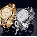นาฬิกาข้อมือ ผู้หญิง ใส่ทำงาน นาฬิกาข้อมือ สายสแตนเลส ออกแบบ เป็น โซ่เงิน โซ่ทอง สวยหรู มีระดับ นาฬิกาใส่ทำงาน แบบหรู 263001