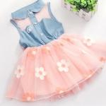 ชุดกระโปรงเด็กผู้หญิง อายุ 6 - 24 เดือน เดรสแขนกุด เดรสยีนส์ มีดีไซน์ น่ารัก กระโปรงบาน สีชมพู โอรส ติดดอกไม้ สไตล์ ลูกคุณหนู ลดราคา 748031_1