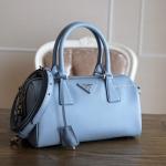 900117b57193 Prada Astrale Blue Saffiano Bowling Bag BL845Y